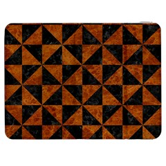 Triangle1 Black Marble & Brown Marble Samsung Galaxy Tab 7  P1000 Flip Case by trendistuff