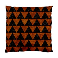 Triangle2 Black Marble & Brown Marble Standard Cushion Case (two Sides) by trendistuff
