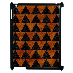 Triangle2 Black Marble & Brown Marble Apple Ipad 2 Case (black) by trendistuff