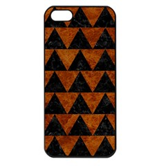Triangle2 Black Marble & Brown Marble Apple Iphone 5 Seamless Case (black) by trendistuff