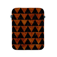 Triangle2 Black Marble & Brown Marble Apple Ipad 2/3/4 Protective Soft Case by trendistuff