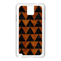 Triangle2 Black Marble & Brown Marble Samsung Galaxy Note 3 N9005 Case (white) by trendistuff