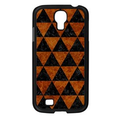 Triangle3 Black Marble & Brown Marble Samsung Galaxy S4 I9500/ I9505 Case (black) by trendistuff