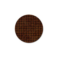 Woven1 Black Marble & Brown Marble Golf Ball Marker (4 Pack) by trendistuff