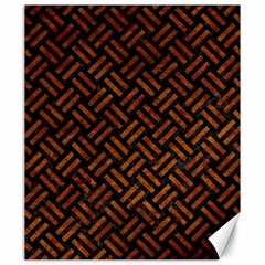 Woven2 Black Marble & Brown Marble Canvas 20  X 24  by trendistuff