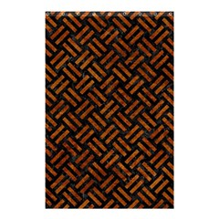 Woven2 Black Marble & Brown Marble Shower Curtain 48  X 72  (small) by trendistuff