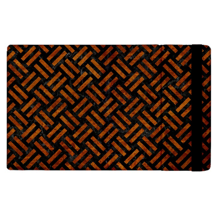 WOVEN2 BLACK MARBLE & BROWN MARBLE Apple iPad 2 Flip Case