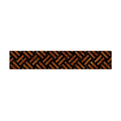 Woven2 Black Marble & Brown Marble Flano Scarf (mini) by trendistuff