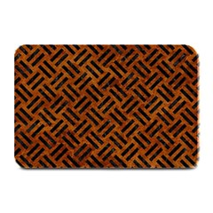 Woven2 Black Marble & Brown Marble (r) Plate Mat by trendistuff