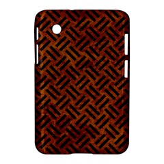 Woven2 Black Marble & Brown Marble (r) Samsung Galaxy Tab 2 (7 ) P3100 Hardshell Case  by trendistuff