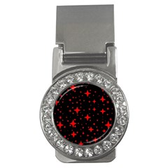Bright Red Stars In Space Money Clips (cz)  by Costasonlineshop
