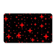 Bright Red Stars In Space Magnet (rectangular) by Costasonlineshop