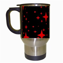 Bright Red Stars In Space Travel Mugs (white) by Costasonlineshop