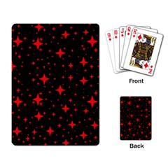 Bright Red Stars In Space Playing Card by Costasonlineshop