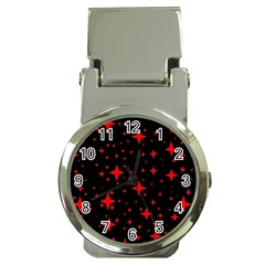 Bright Red Stars In Space Money Clip Watches by Costasonlineshop