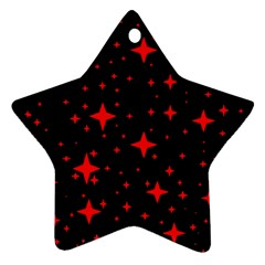 Bright Red Stars In Space Star Ornament (two Sides)  by Costasonlineshop