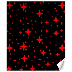 Bright Red Stars In Space Canvas 8  X 10  by Costasonlineshop