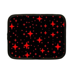 Bright Red Stars In Space Netbook Case (small)  by Costasonlineshop