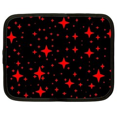 Bright Red Stars In Space Netbook Case (large) by Costasonlineshop