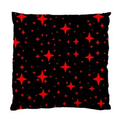 Bright Red Stars In Space Standard Cushion Case (one Side) by Costasonlineshop