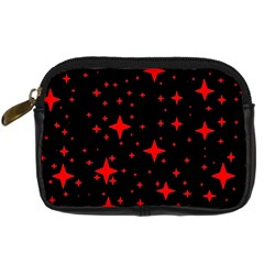 Bright Red Stars In Space Digital Camera Cases by Costasonlineshop