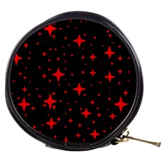 Bright Red Stars In Space Mini Makeup Bags by Costasonlineshop