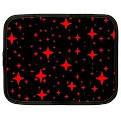 Bright Red Stars In Space Netbook Case (xl)  by Costasonlineshop
