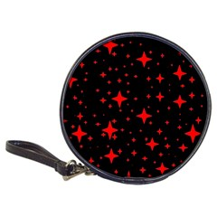 Bright Red Stars In Space Classic 20 Cd Wallets by Costasonlineshop