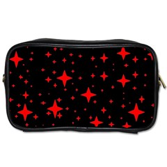 Bright Red Stars In Space Toiletries Bags by Costasonlineshop