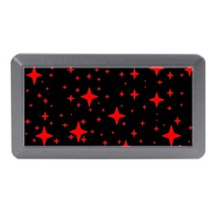 Bright Red Stars In Space Memory Card Reader (mini) by Costasonlineshop