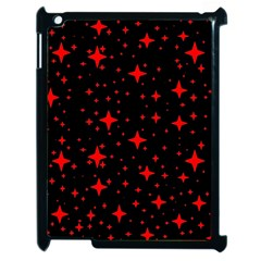 Bright Red Stars In Space Apple Ipad 2 Case (black) by Costasonlineshop