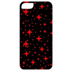 Bright Red Stars In Space Apple Iphone 5 Classic Hardshell Case by Costasonlineshop