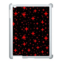 Bright Red Stars In Space Apple Ipad 3/4 Case (white) by Costasonlineshop