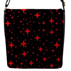 Bright Red Stars In Space Flap Messenger Bag (s) by Costasonlineshop
