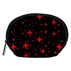 Bright Red Stars In Space Accessory Pouches (medium)  by Costasonlineshop