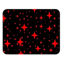 Bright Red Stars In Space Double Sided Flano Blanket (large)  by Costasonlineshop