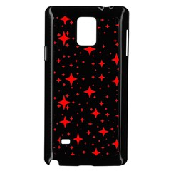 Bright Red Stars In Space Samsung Galaxy Note 4 Case (black) by Costasonlineshop