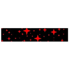 Bright Red Stars In Space Flano Scarf (small) by Costasonlineshop