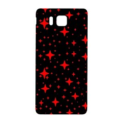 Bright Red Stars In Space Samsung Galaxy Alpha Hardshell Back Case by Costasonlineshop