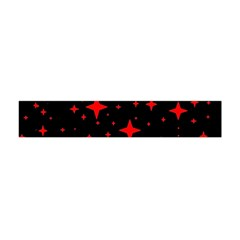 Bright Red Stars In Space Flano Scarf (mini) by Costasonlineshop