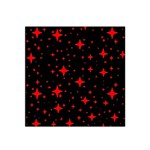 Bright Red Stars In Space Satin Bandana Scarf Front