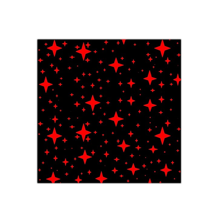 Bright Red Stars In Space Satin Bandana Scarf