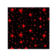 Bright Red Stars In Space Small Satin Scarf (square) by Costasonlineshop