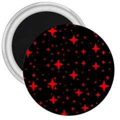 Bright Red Stars In Space 3  Magnets by Costasonlineshop