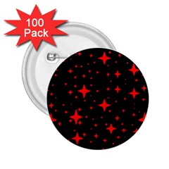 Bright Red Stars In Space 2 25  Buttons (100 Pack)  by Costasonlineshop