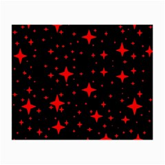 Bright Red Stars In Space Small Glasses Cloth by Costasonlineshop