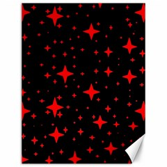 Bright Red Stars In Space Canvas 12  X 16   by Costasonlineshop