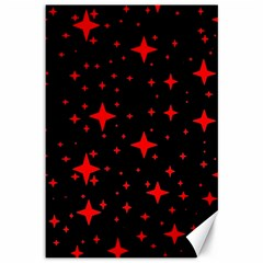 Bright Red Stars In Space Canvas 12  X 18   by Costasonlineshop