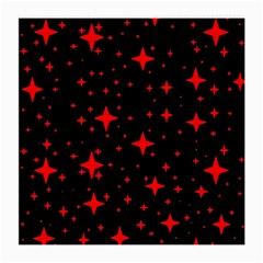 Bright Red Stars In Space Medium Glasses Cloth by Costasonlineshop