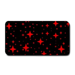 Bright Red Stars In Space Medium Bar Mats by Costasonlineshop